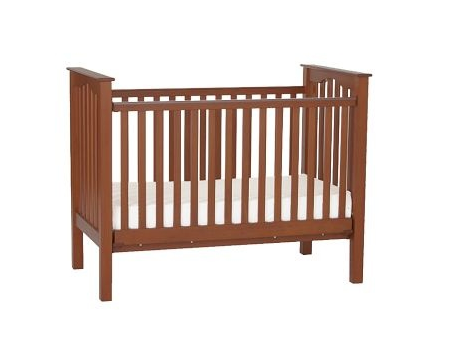 Low Profile Kendall Crib from Pottery Barn in Chestnut