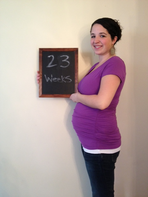 23 weeks - baby is the size of a papaya.