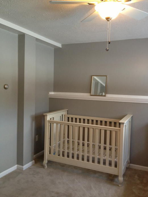The beginnings of baby Richards' nursery
