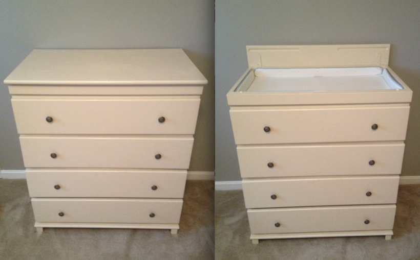 Changing table/dress AFTER painting and adding hardware