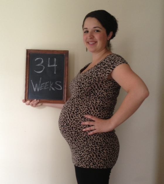 34 weeks and officially looking PREGNANT