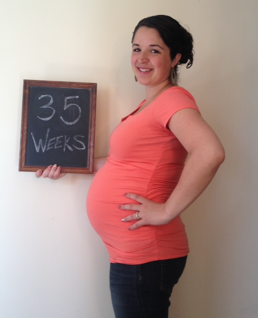 35 weeks - stretched to the MAX