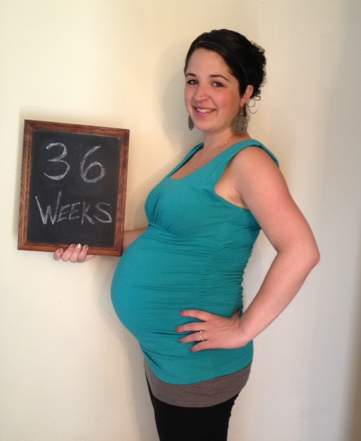 36 weeks (9 months). Hanging in there.