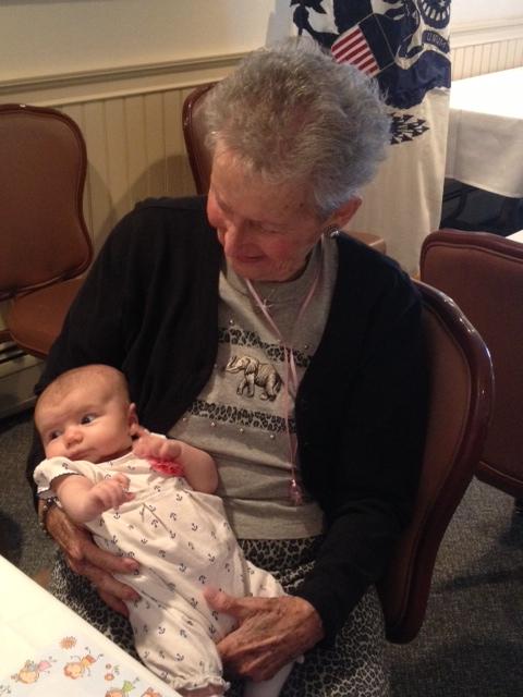 Beamie practicing her great-grandma skills ;)