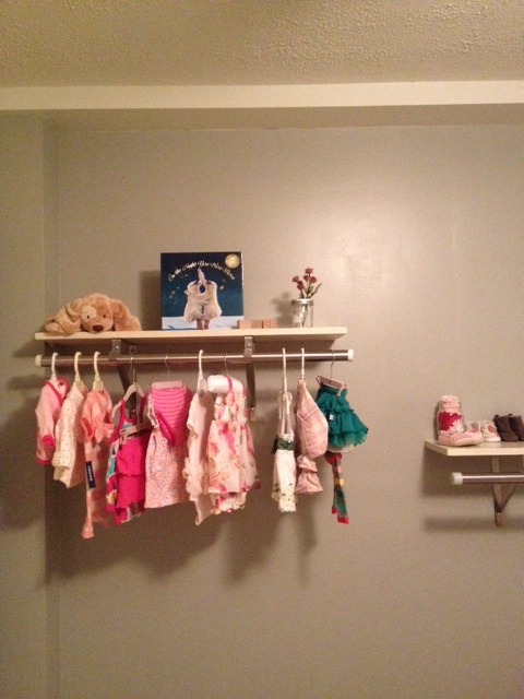 Our new nursery shelving
