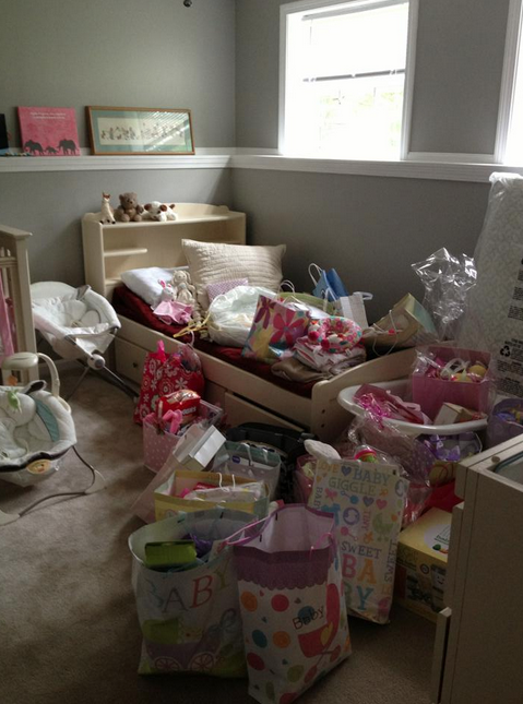 Baby's room filled with all her gifts