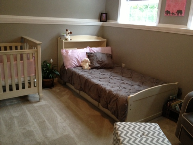Complete with a twin bed for mom, dad or grandparents who aren't getting very much sleep...
