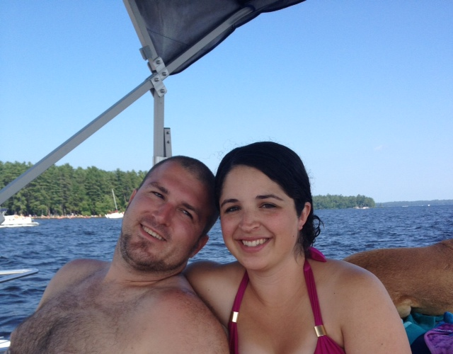 lounging on the boat