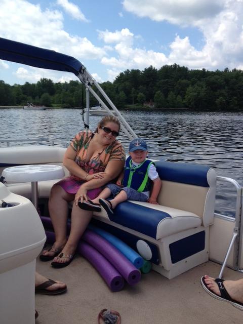 4th of July on Carol's new pontoon boat!