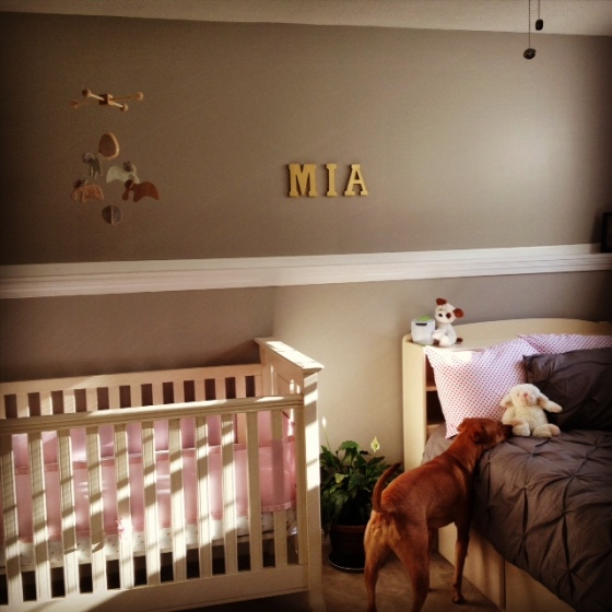 Mia's wall letters