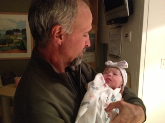 Mia meets Grandpa
