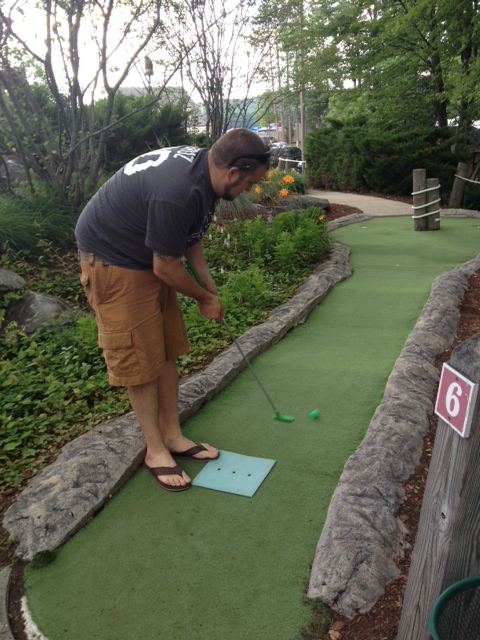 Mini Golf (Just for the record...I won)
