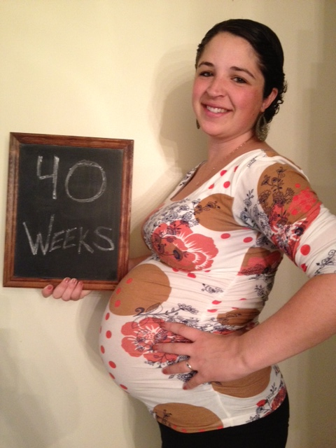 40 weeks pregnant...still 5 days to go (and then another FULL DAY in labor)