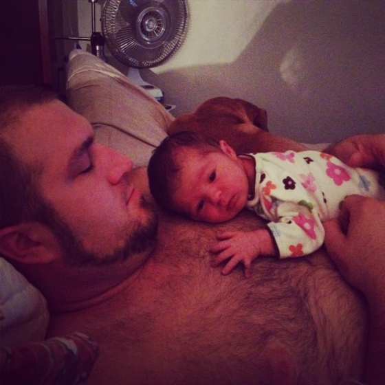 cuddle time with Daddy