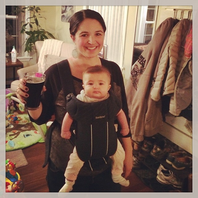 Babywearing is for freeing up a beer hand
