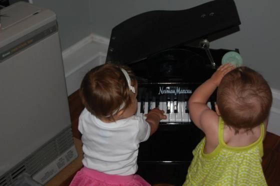 We played piano.