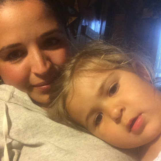 Mommy and Mia Cuddles